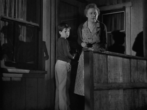 Lurene Tuttle and Robert Hyatt as her son in Tomorrow is Another Day (1951)