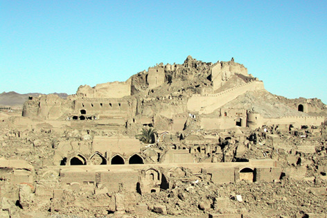 Bam Citadel, Iran after the 2003 earthquake