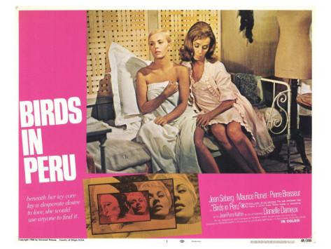 Jean Seberg & Danielle Darrieux in Birds in Peru (1968)