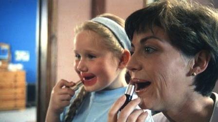 Chloe Ferguson (left) & Celine O'Leary in The Quiet Room (1996)