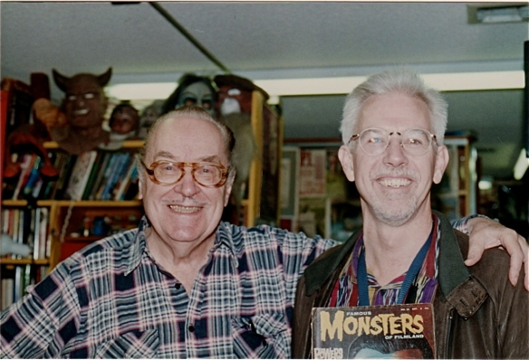 Forry and me at the Ackermansion with FMoF issue #30 (photo by B. Boston, 1998)