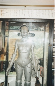 The fiberglass replica of Maria the Robotrix from Metropolis in Forry Ackerman's collection (1998) photo b J. Stafford