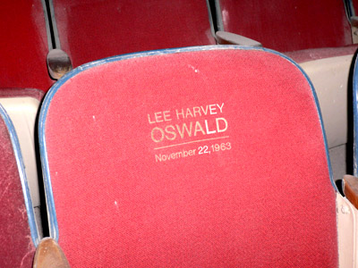 Lee Harvey Oswald sat here at the Texas Theatre on Nov. 22, 1963