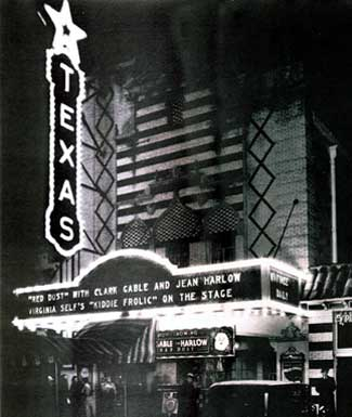 The Texas Theatre in the 1930s