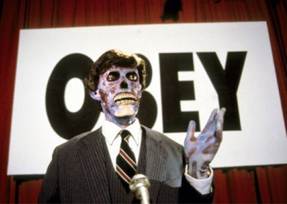 Republicans from outer space invade Earth in They Live (1988)