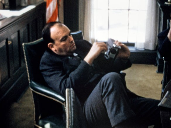 John Ehrlichman with super-8 camera in the documentary OUR NIXON (2013)