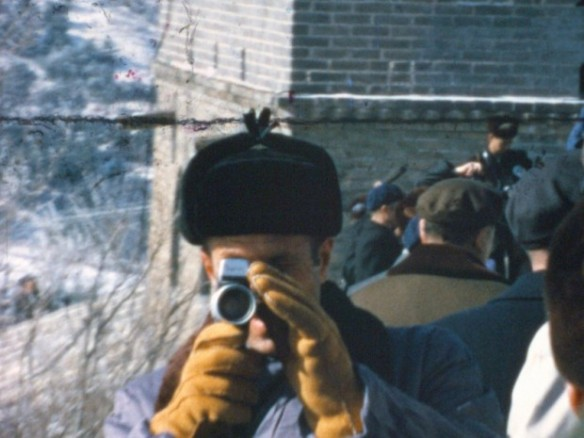 H.R. Haldeman shooting super-8 home movie footage of Nixon In China (from the documentary OUR NIXON)