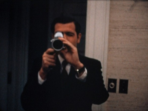 Dwight Chapin with super-8 camera in the documentary OUR NIXON (2013)