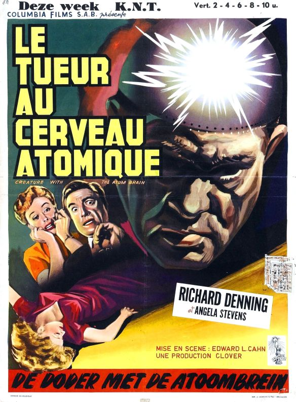 international poster for Creature with the Atom Brain