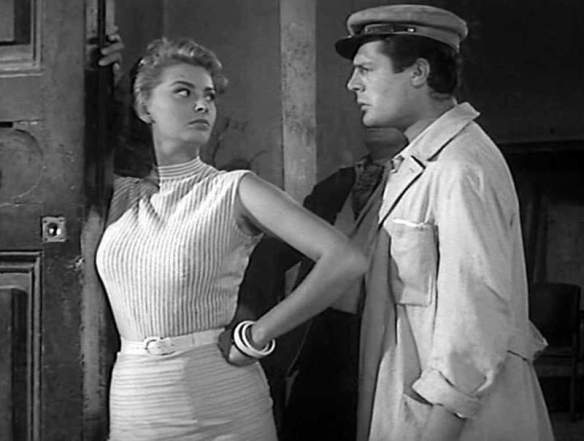 Sophia Loren and Marcello Mastroianni in TOO BAD SHE'S BAD (1955)