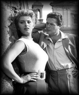 Sophia Loren and Marcello Mastroianni in TOO BAD, SHE'S BAD (1955)