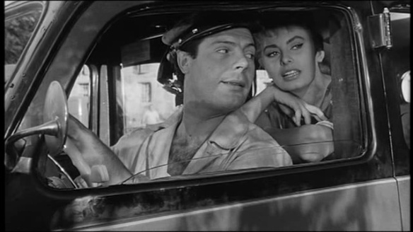 Marcello Mastroianni and Sophia Loren in TOO BAD, SHE'S BAD (1955)