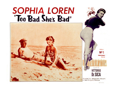 too-bad-shes-bad-marcello-mastroianni-sophia-loren-1954 beach