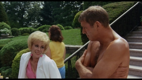 Joan Rivers and Burt Lancaster in The Swimmer (1968)