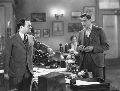 Edward G. Robinson (left) and Boris Karloff in FIVE STAR FINAL (1931)