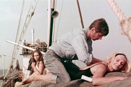 Marie Liljedahl (background), Heinz Hopf and Gio Petré (foreground) in ANN AND EVE (1970)