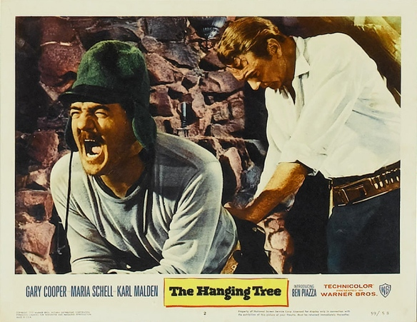 Karl Malden (left) and Gary Cooper in The Hanging Tree (1959)