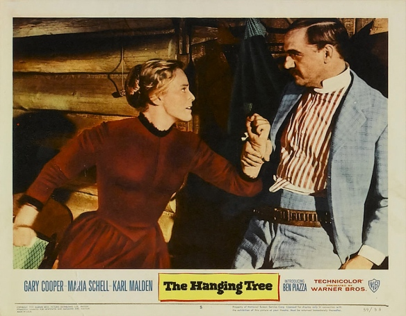 Maria Schell and Karl Malden in The Hanging Tree (1959)