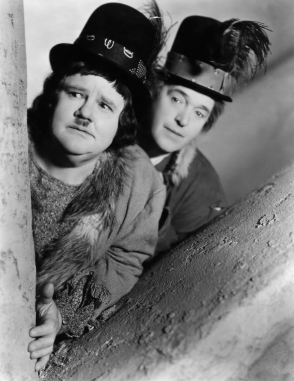 Laurel and Hardy in The Bohemian Girl (1936); image courtesy of www.doctormacro.com