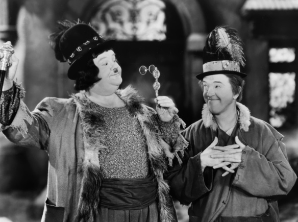 Oliver Hardy (left) and Stan Laurel in The Bohemian Girl (1936); image courtesy of www.doctormacro.com