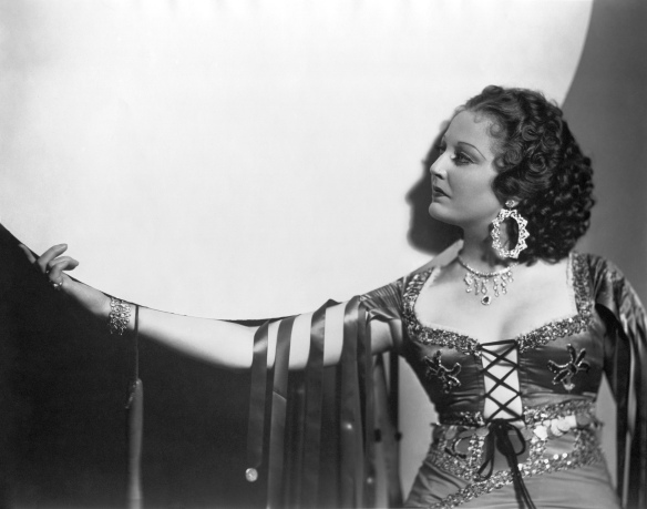 Publicity shot of Thelma Todd from The Bohemian Girl (1936); image courtesy of www.doctormacro.com