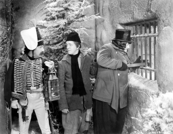 James Finlayson (left), Stan Laurel and Oliver Hardy in The Bohemian Girl (1936)
