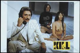 Mauro Parenti (on left) as drug czar Cremona in Kill! (1971)