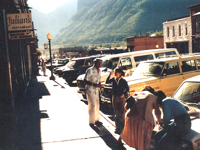 Elisha Cook, Jr. at the 8th Telluride Film Festival  (1981, photo by Jeff Stafford)