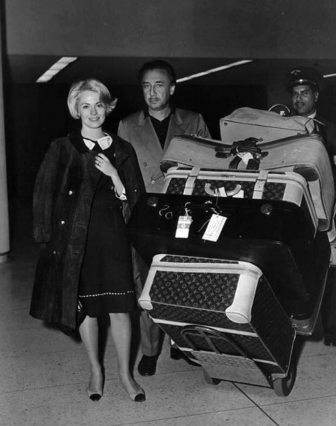 Jean Seberg and Romain Gary in happier times, Los Angeles, 1965