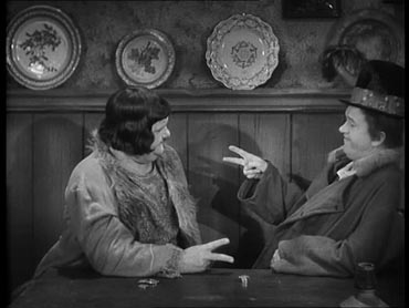 Oliver Hardy (left) and Stan Laurel in The Bohemian Girl (1936)