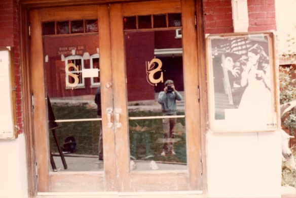 Self portrait outside the Sheridan Opera House in Telluride, Colorado (1981, photo by Jeff Stafford)