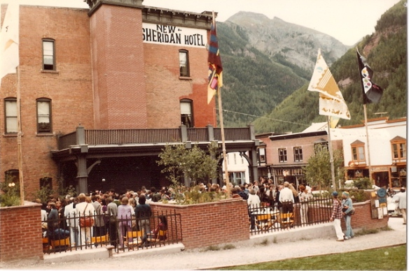 The opening night feed at the Sheraton Hotel, 8th Telluride Film Festival (1981, photo by Jeff Stafford)