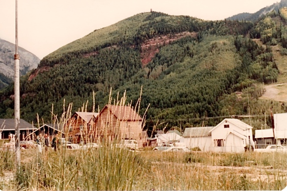 A view from where the former Telluride Community Center stood. It has since been replaced by the Galaxy Theater (photo by Jeff Stafford)