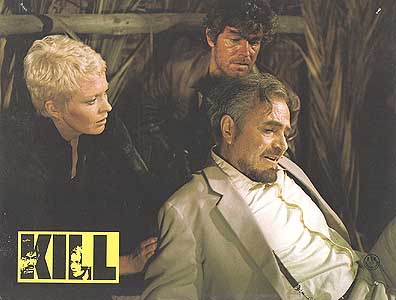 Jean Seberg, James Mason (foreground) and Stephen Boyd in Kill! (1971)