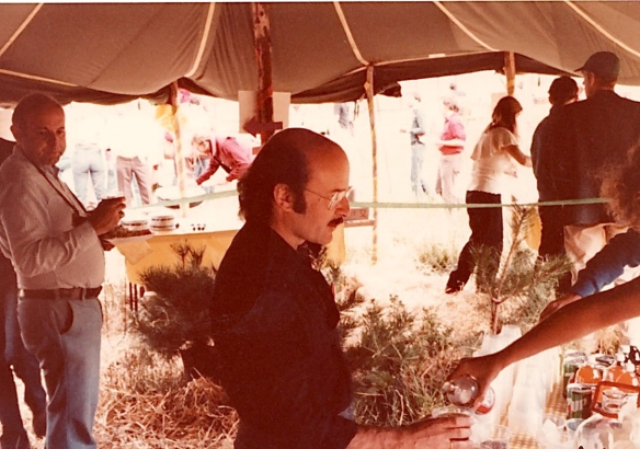Volker Schlondorff at the Labor Day picnic at the 8th Telluride Film Festival where he screened his film Circle of Deceit (1981, photo by Jeff Stafford)