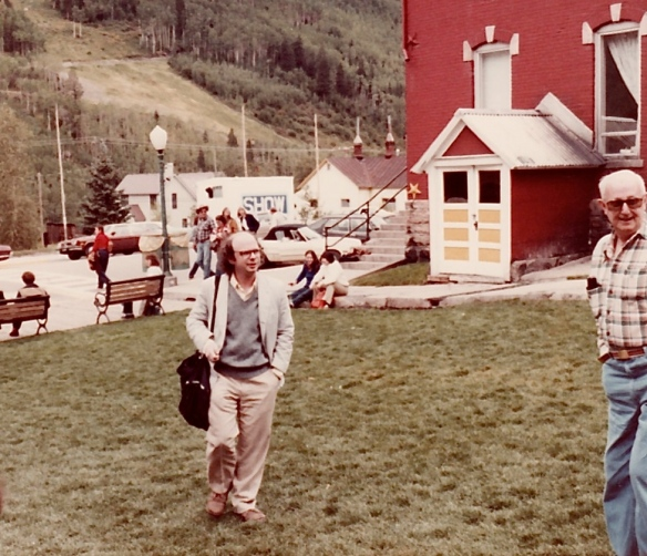 Wallace Shawn at the 8th Telluride Film Festival for My Dinner with Andre (1981, photo by Jeff Stafford)