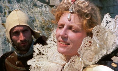 Jenny Runacre as Queen Elizabeth I in Derek Jarman's Jubilee (1978)