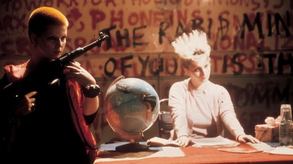 Jordan (center) in Derek Jarman's Jubilee (1978)