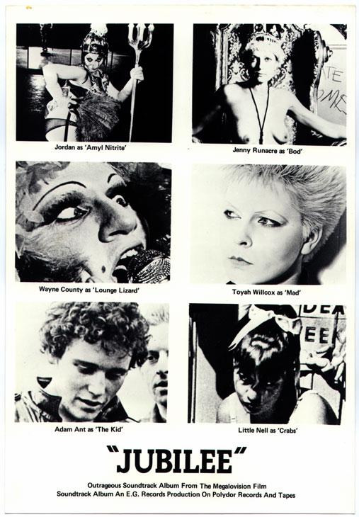 pressbook for Jubilee (1978)