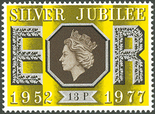 Silver Jubilee stamp