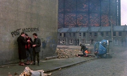 Jubilee (1978), shot on location in London around Southwark, Rotherhithe and Victoria Docks
