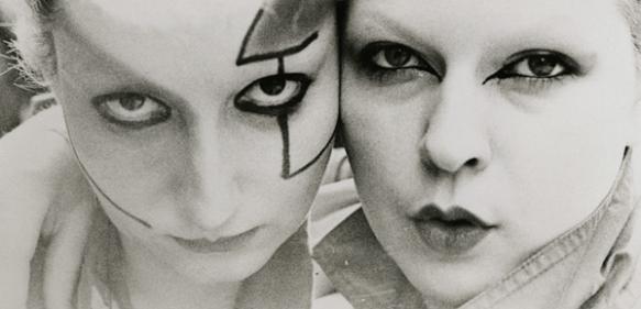 Jordan (on left) and Tonya Willcox in Derek Jarman's Jubilee (1978)