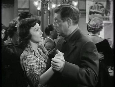 Francoise Arnoul and Jean Gabin steppin' out at a roadhouse cafe in the French melodrama, Des gens sans importance (aka People of No Importance, 1956).