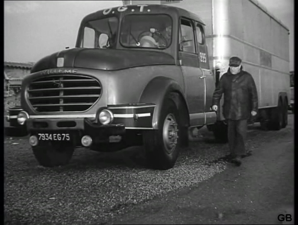 A scene from Dens Ges Sans Importance (English title: People of No Importance, 1956) starring Jean Gabin as a down-on-his-luck truck driver