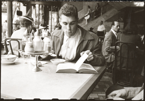 Walter Cartier, Prizefighter of Greenwich Village in a restaurant, 1948. (photo by Stanley Kubrick for LOOK Magazine.)
