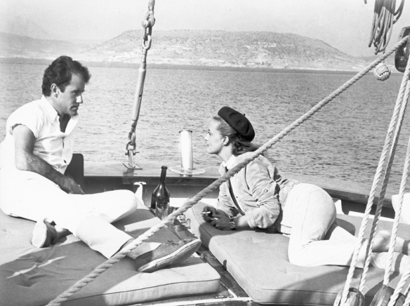 Ian Bannen and Jeanne Moreau in The Sailor from Gibraltar (1967), directed by Tony Richardson