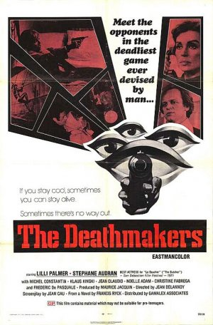 Alternate poster version for La peau de torpedo (1970), retitled The Deathmakers aka Only the Cool aka Pill of Death aka Children of Mata Hari