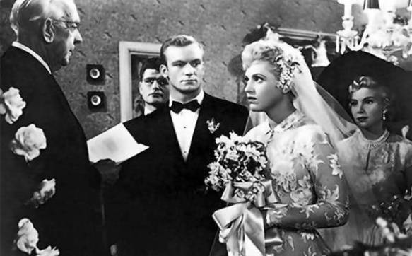 Aldo Ray as the groom & Judy Holliday as the bride in The Marrying Kind (1952), directed by George Cukor