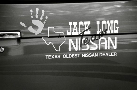 Jack Long Nissan sponsorship of Hands on a Hard Body (1997)