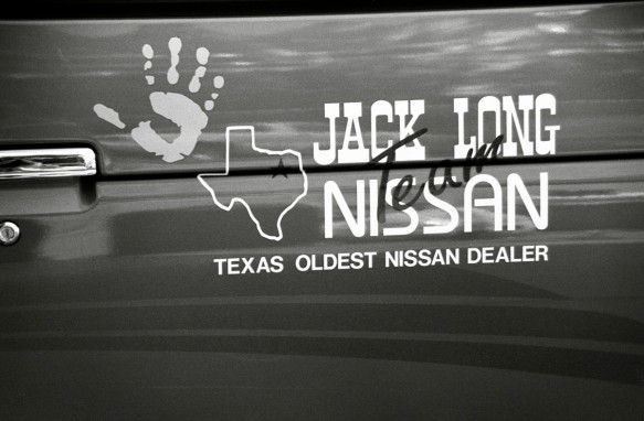 Jack Long Nissan sponsorship of Hands on a Hard Body (1997)